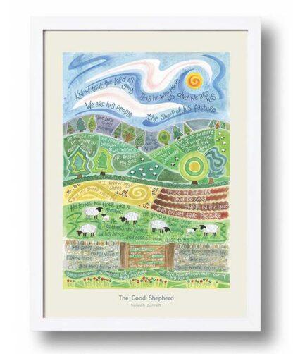 Hannah Dunnett The Good Shepherd Poster white frame USA version