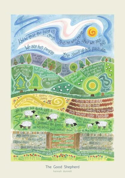 Hannah Dunnett The Good Shepherd greetings card and poster USA version