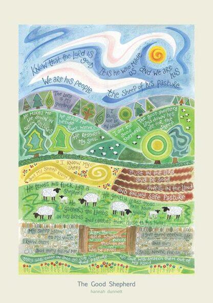 Hannah Dunnett The Good Shepherd greetings card and poster USA version