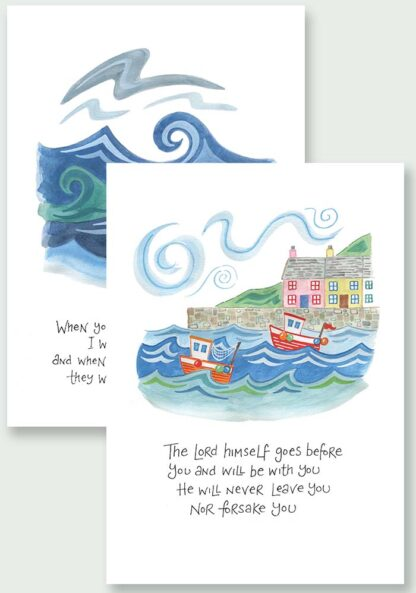 Hannah Dunnett The Lord Goes Before You and I Will Be With You Notecards USA version