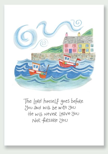 Hannah Dunnett The Lord Goes Before You notecard and print USA version