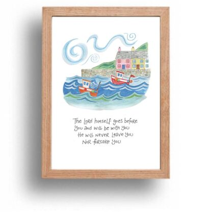 Hannah Dunnett The Lord Goes Before You print wood frame USA version