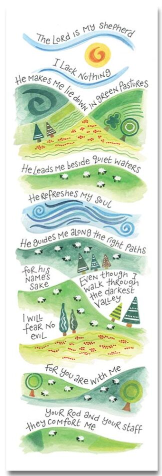 Hannah Dunnett The Lord is My Shepherd bookmark front image