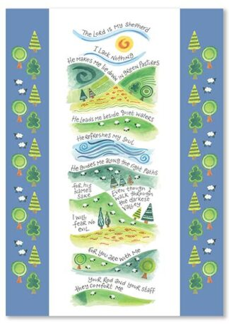 Hannah Dunnett The Lord is My Shepherd greetings card USA version