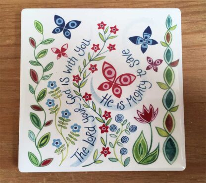 Hannah Dunnett The Lord is with you coaster image