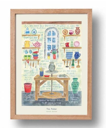 Hannah Dunnett The Potter Poster oak frame USA version