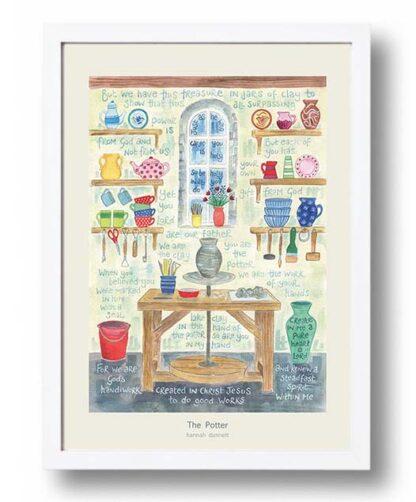 Hannah Dunnett The Potter Poster white frame USA version