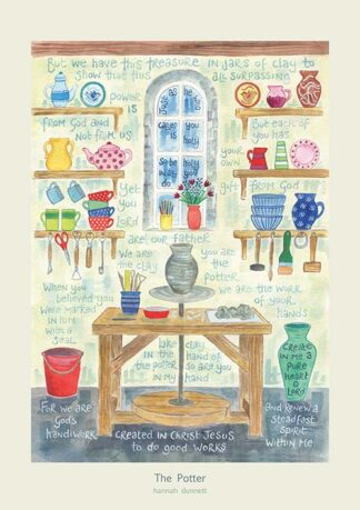 Hannah Dunnett The Potter greetings card and poster USA version