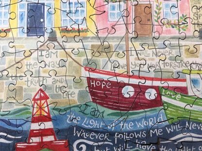 Hannah Dunnett The Way The Truth and The Life Jigsaw lower close up image