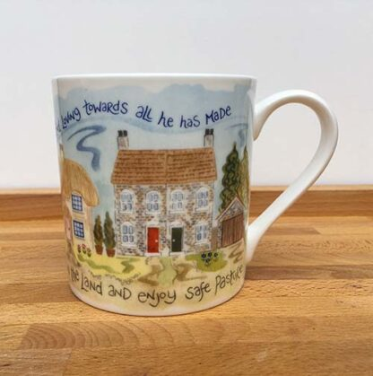Hannah Dunnett Trust in The Lord China Mug close up front