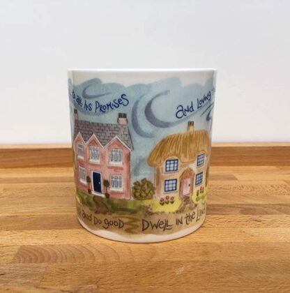 Hannah Dunnett Trust in The Lord China Mug close up middle