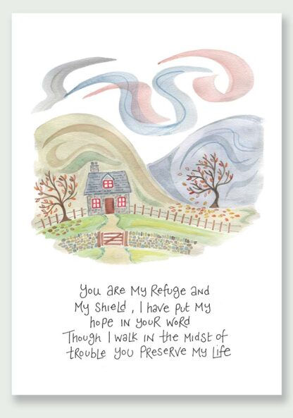 Hannah Dunnett You Are My Refuge notecard and print USA version