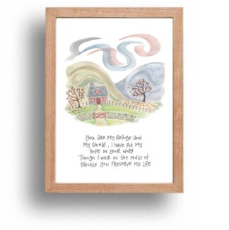 Hannah Dunnett You Are My Refuge print wood frame USA version