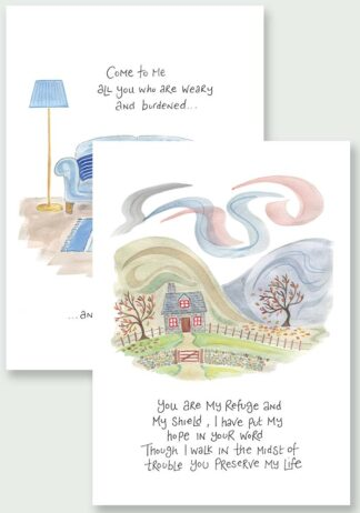 Hannah Dunnett You are My Refuge and I Will Give You Rest Notecards USA website image