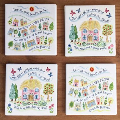 Hannah Dunnett houses Coasters pack of 4 image