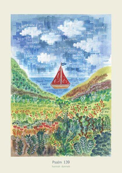 Hannah Dunnett Psalm 139 Boat Image poster