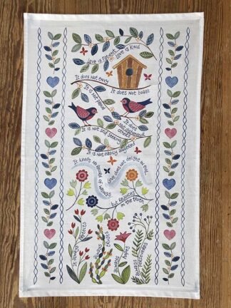 Hannah Dunnett Love is Patient Kitchen Towel