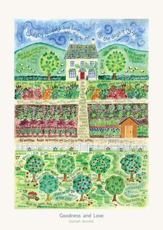 Hannah Dunnett Goodness and Love greetings card and poster