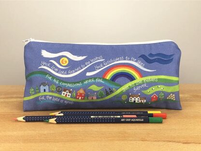Hannah Dunnett His Compassions Never Fail Pencil case with pencils