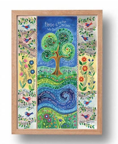 Hannah Dunnett Living Water A3 Poster oak frame