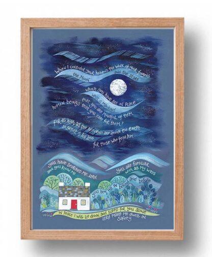 Hannah Dunnett So Great is His Love Poster oak frame