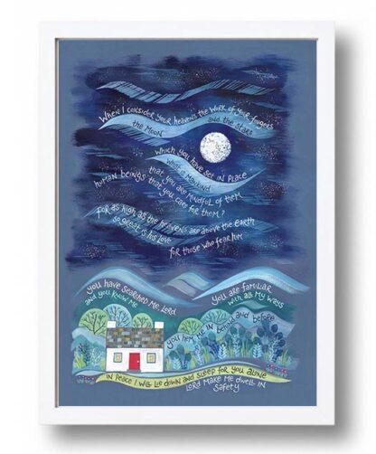 Hannah Dunnett So Great is His Love Poster white frame