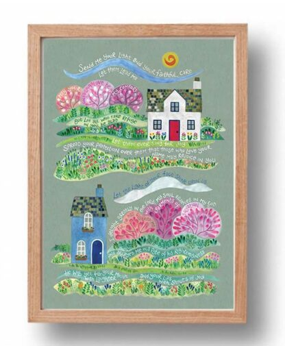 Hannah Dunnett Your Faithful Care Poster oak frame