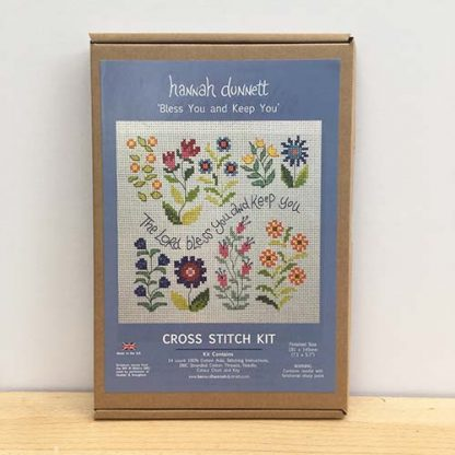 Hannah Dunnett Bless You and Keep You Cross Stitch Kit box image