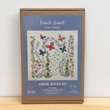 Hannah Dunnett Great Delight Cross Stitch Kit box image