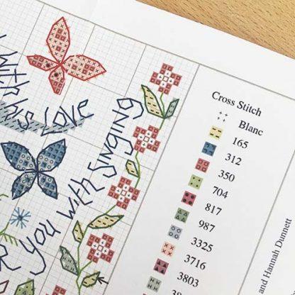 Hannah Dunnett Great Delight Cross Stitch Kit chart image