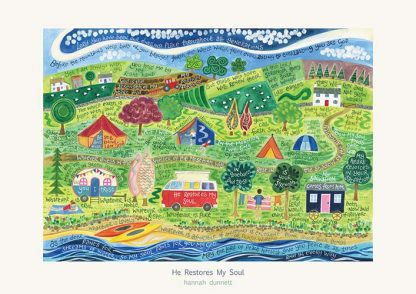 Hannah Dunnett He Restores My Soul greetings card and poster