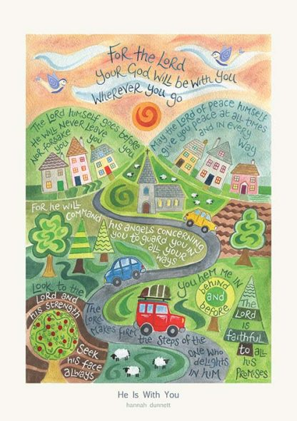 Hannah Dunnett He is With You greetings card and poster