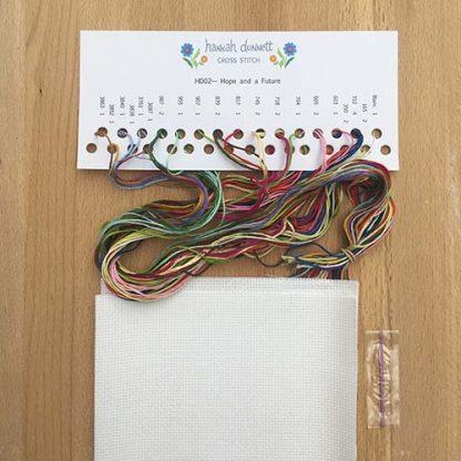 Hannah Dunnett Hope and a Future Cross Stitch Kit thread