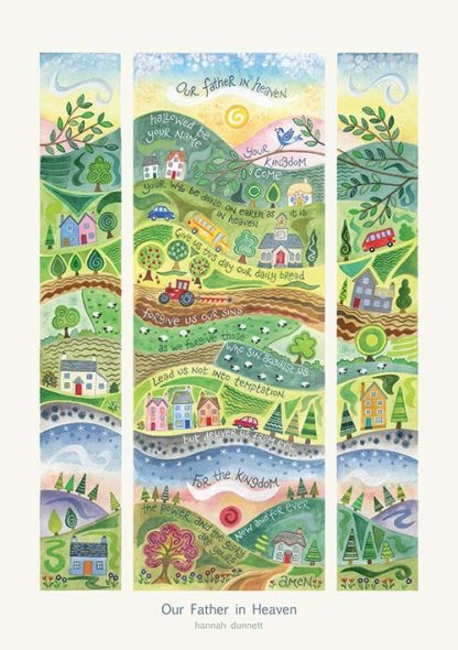 Hannah Dunnett Our Father in Heaven greetings card and poster